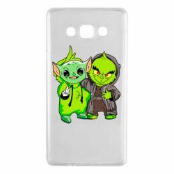 Чехол для Samsung A7 2015 Yoda and Grinch