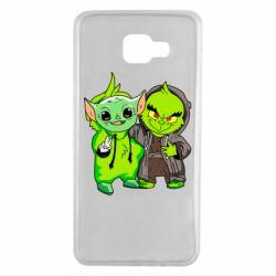 Чехол для Samsung A7 2016 Yoda and Grinch