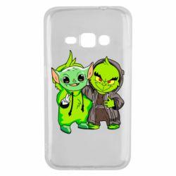 Чехол для Samsung J1 2016 Yoda and Grinch
