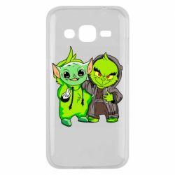 Чехол для Samsung J2 2015 Yoda and Grinch