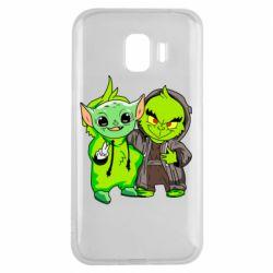 Чехол для Samsung J2 2018 Yoda and Grinch