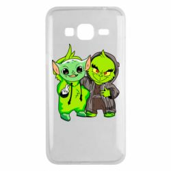 Чехол для Samsung J3 2016 Yoda and Grinch