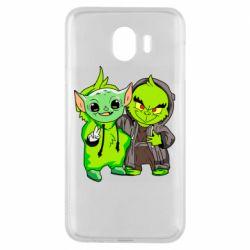 Чехол для Samsung J4 Yoda and Grinch