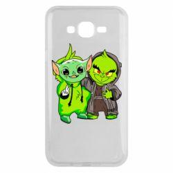 Чехол для Samsung J7 2015 Yoda and Grinch
