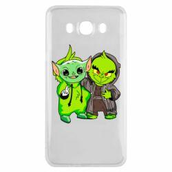 Чехол для Samsung J7 2016 Yoda and Grinch