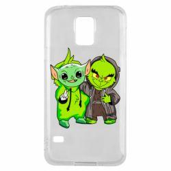 Чехол для Samsung S5 Yoda and Grinch