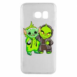 Чехол для Samsung S6 EDGE Yoda and Grinch