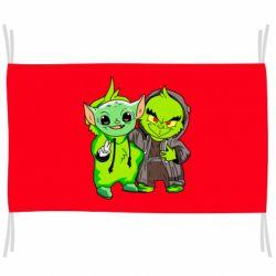 Флаг Yoda and Grinch