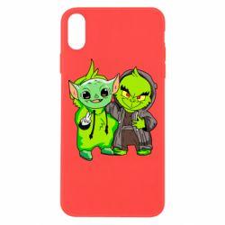 Чехол для iPhone Xs Max Yoda and Grinch