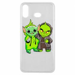 Чехол для Samsung A6s Yoda and Grinch