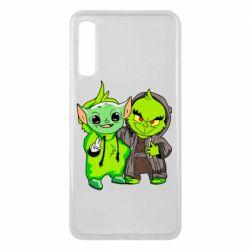Чехол для Samsung A7 2018 Yoda and Grinch