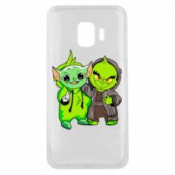 Чехол для Samsung J2 Core Yoda and Grinch