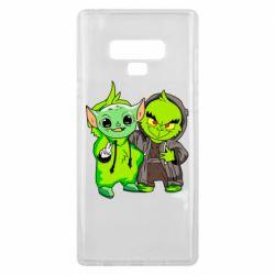 Чехол для Samsung Note 9 Yoda and Grinch