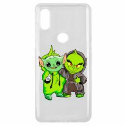 Чехол для Xiaomi Mi Mix 3 Yoda and Grinch