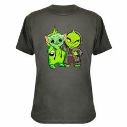 Камуфляжная футболка Yoda and Grinch