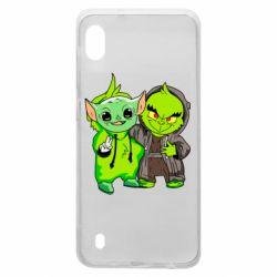 Чехол для Samsung A10 Yoda and Grinch