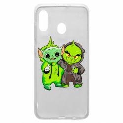 Чехол для Samsung A20 Yoda and Grinch