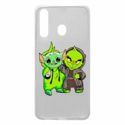 Чехол для Samsung A60 Yoda and Grinch
