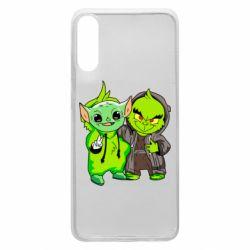 Чехол для Samsung A70 Yoda and Grinch