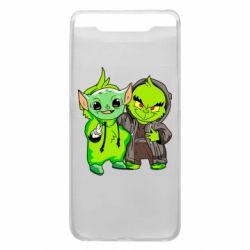 Чехол для Samsung A80 Yoda and Grinch