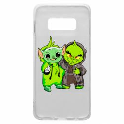 Чехол для Samsung S10e Yoda and Grinch