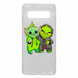 Чехол для Samsung S10 Yoda and Grinch