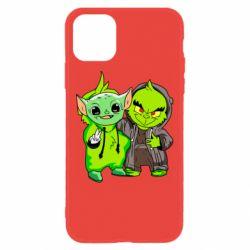 Чехол для iPhone 11 Yoda and Grinch
