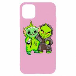 Чехол для iPhone 11 Pro Yoda and Grinch