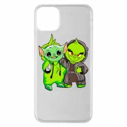 Чехол для iPhone 11 Pro Max Yoda and Grinch