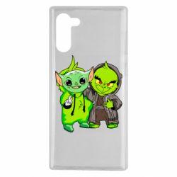Чехол для Samsung Note 10 Yoda and Grinch