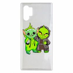 Чехол для Samsung Note 10 Plus Yoda and Grinch