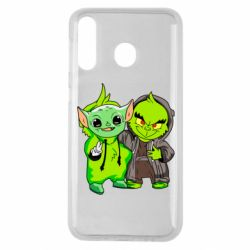 Чехол для Samsung M30 Yoda and Grinch