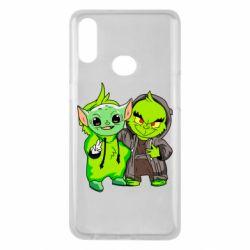 Чехол для Samsung A10s Yoda and Grinch