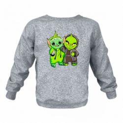 Детский реглан (свитшот) Yoda and Grinch
