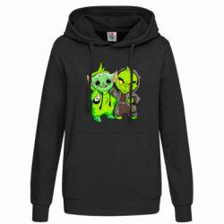Женская толстовка Yoda and Grinch