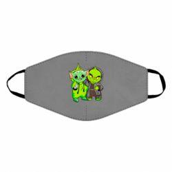 Маска для лица Yoda and Grinch