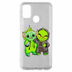 Чехол для Samsung M30s Yoda and Grinch