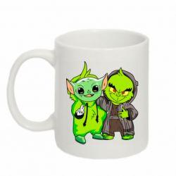 Кружка 320ml Yoda and Grinch