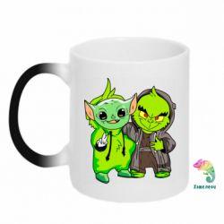 Кружка-хамелеон Yoda and Grinch