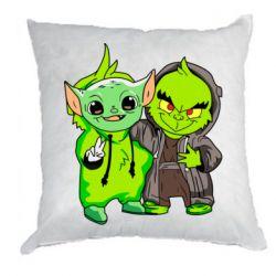 Подушка Yoda and Grinch