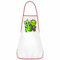 Фартук Yoda and Grinch