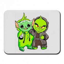 Коврик для мыши Yoda and Grinch
