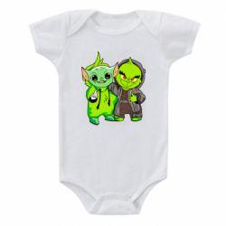Детский бодик Yoda and Grinch