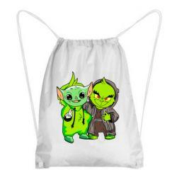 Рюкзак-мешок Yoda and Grinch
