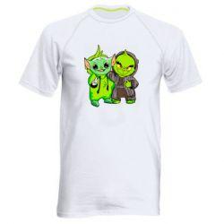 Мужская спортивная футболка Yoda and Grinch