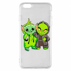 Чехол для iPhone 6 Plus/6S Plus Yoda and Grinch