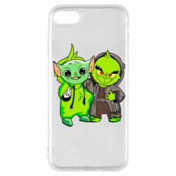 Чехол для iPhone 7 Yoda and Grinch
