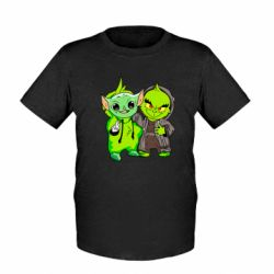 Детская футболка Yoda and Grinch