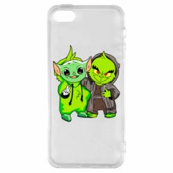 Чехол для iPhone5/5S/SE Yoda and Grinch