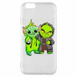 Чехол для iPhone 6/6S Yoda and Grinch